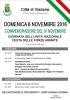 PROGRAMMA DI DOMENICA 6 NOVEMBRE 2016